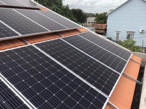 điện mặt trời áp mái hòa lưới gia đình